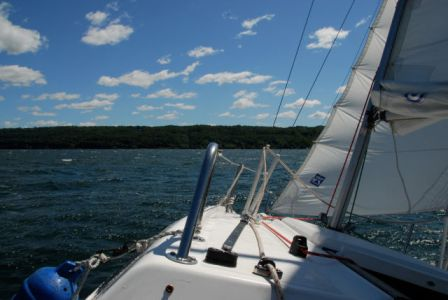 Sailing on Cayuga Lake by solarnu FCC