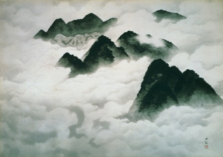 Yokoyama Taikan White Clouds Longing for Spring 1939 ink on paper