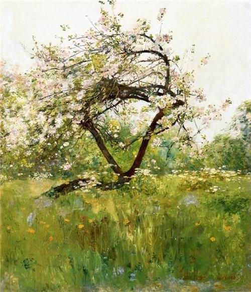 Childe Hassam Peach Blossoms, Villiers-le-Bel 1887-89