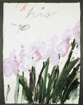 Cy Twombly Iris 1990