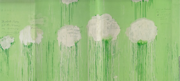 Cy Twombly, Untitled (Peony Blossom Paintings), 2007, acrylic, wax crayon, penil on wood