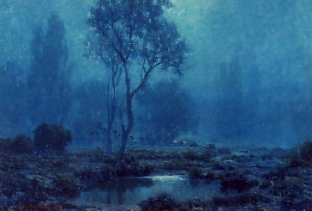 Granville-Redmond-Moonlit-Pond