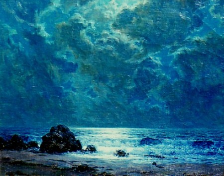 Granville Redmond Night Sea oil on canvas nd
