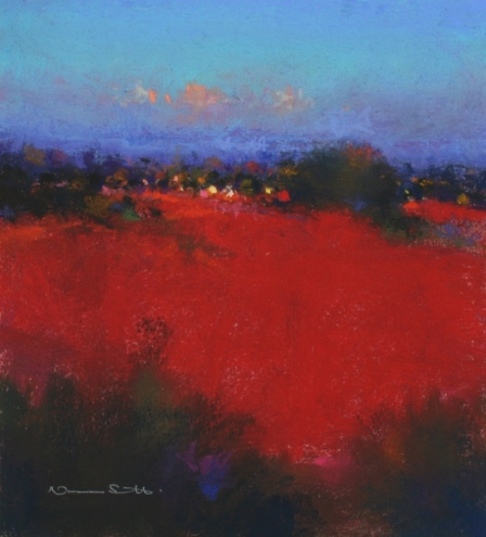 Norman Smith, Last Reflected Light, pastel