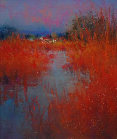 Norman Smith, Norfolk Marsh, pastel on paper
