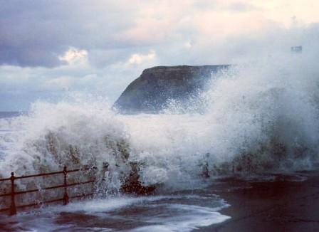 Stormy Seas, Scarborough, UK WC