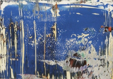 Gerhard Richter, Abstrakt 1989, oil on paper