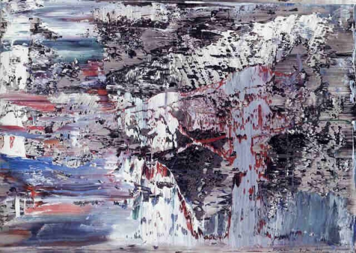 Gerhard Richter, Untitled 1990, oil on photograph