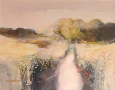 John Scorror O'Connor Burn at Cochieton nd oil on canvas