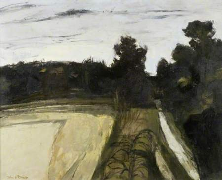 John Scorror O'Connor Track to Corbel's Farm 50-60s oil on canvas