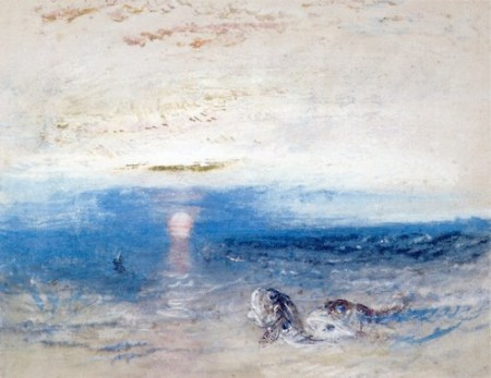 Joseph Mallord William Turner, Setting Sun and the Sea not sure, watercolor