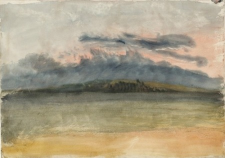 Joseph Mallord William Turner, Storm Clouds colon Sunset with a Pink Sky 1825
