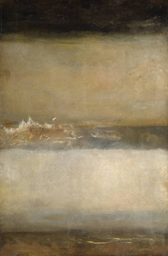 Three Seascapes circa 1827 by Joseph Mallord William Turner 1775-1851