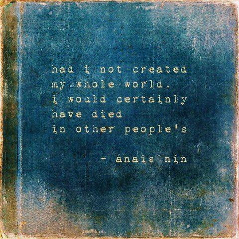Anais Nin my own world