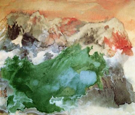 Chang Dai-chien Mist at Dawn ink and wash 1974