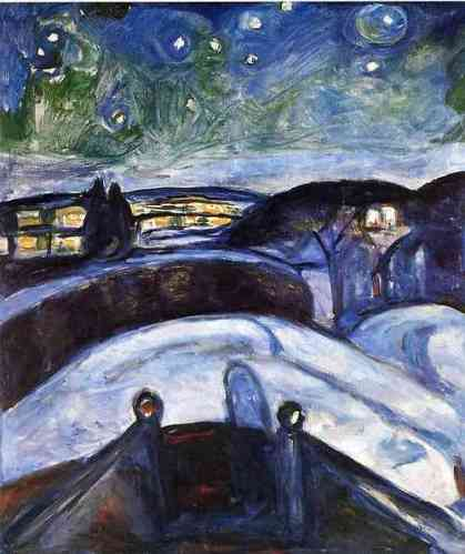 Edvard Munch, Starry Night, 1924