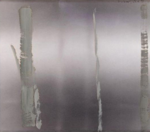 Untitled (1991, oil on photograph) by Gerhard Richter