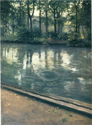 Gustave Caillebotte THe Yerres, Rain, oil on canvas 1875