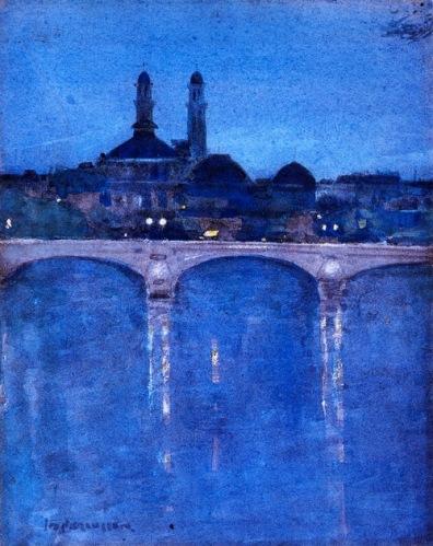 John DUncan Fergusson The Troacadero, Paris ca 1902