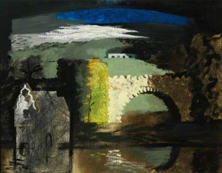 John Piper Park Place, Henley-on-Thames, Oxfordshire 1941 oil on canvas on panel
