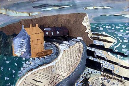 John Piper Seaford Head, 1933, mixed media