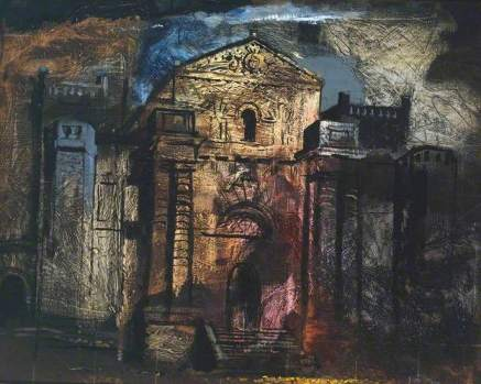 John Piper Seaton Delaval 1941 oil on canvas laid on wood