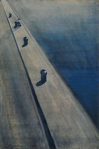 Leon Spilliaert-Wharf-with-Fisherman-on-a-Mooring-Post-1909-large-1340860501