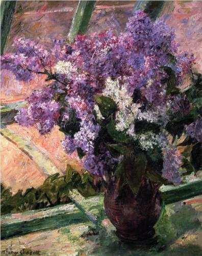Mary Cassatt Lilacs in a Window oil on canvas 1880