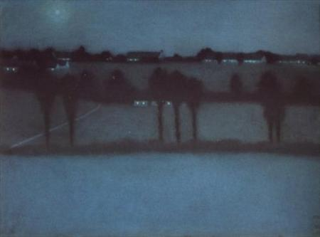 William Degouve de Nuncques Nocturnal Effect 1896 pastel on paper