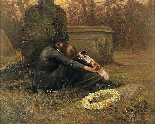 Arthur Wardle A Comforting Friend oil on canvas 1895c