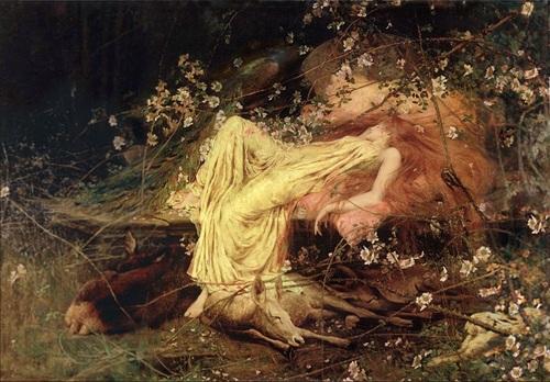 Arthur Wardle A Fairy Tale nd oil on canvas
