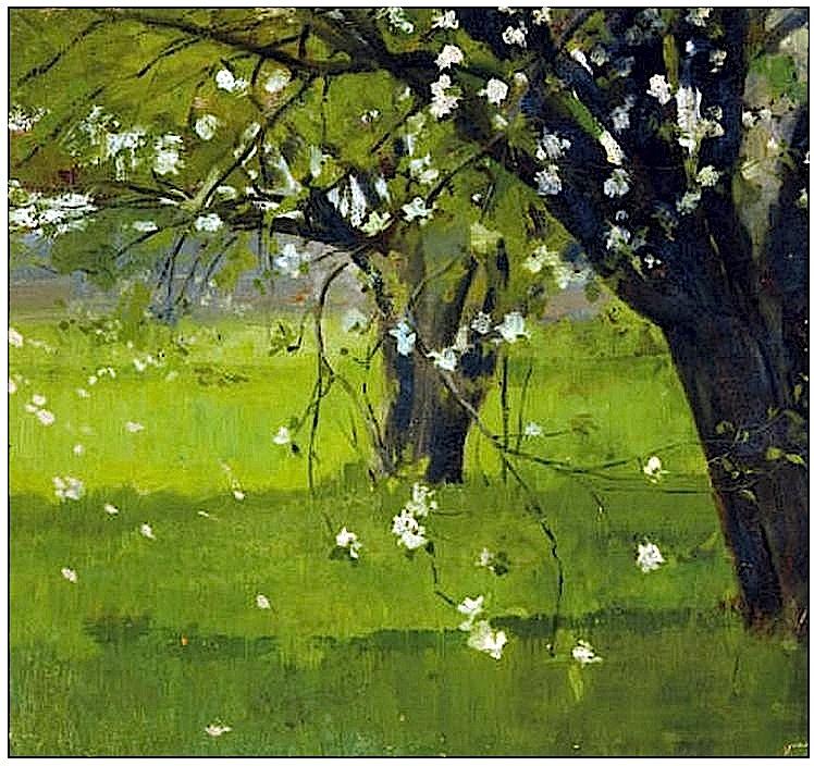 Theodore Robinson Tree Blossoms