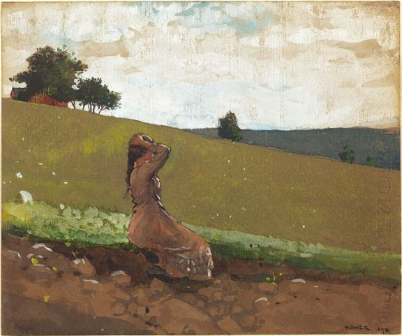 Winslow Homer The Green Hill 1878 watercolor, gouache and graphite on paper