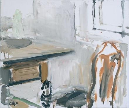Eilif Amundsen Chair, Table, Window, oil on canvas