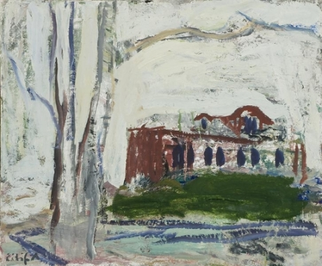Eilif Amundsen House in the Park 1994 oil on canvas