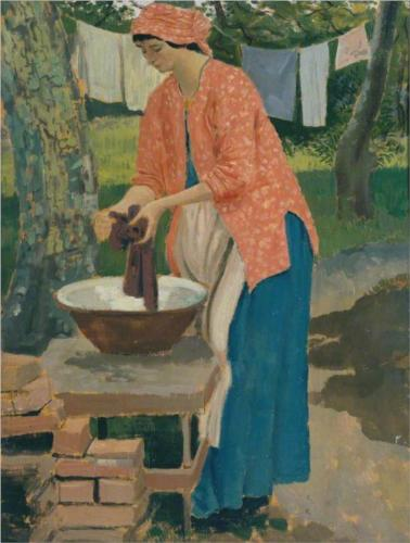 Augustus John Washing Day 1915