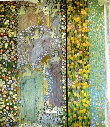 Galileo Chini La Primavera Classica 1914 panel