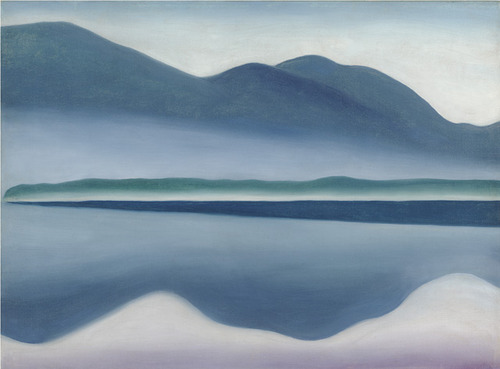 Georgia O'Keeffe Lake George 1922 oil on canvas