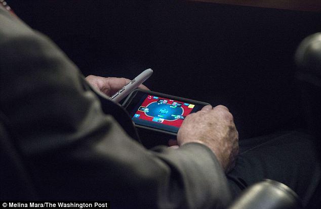 John McCain playing poker