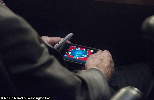 John McCain playing poker