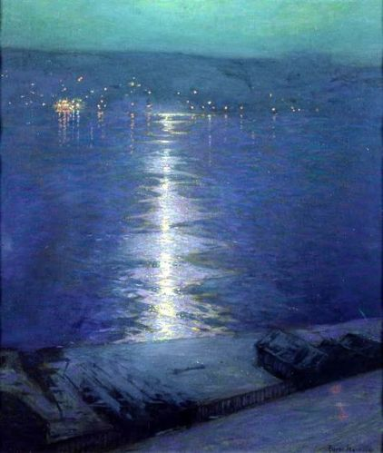 Lowell Birge Harrison Moonlight on the River