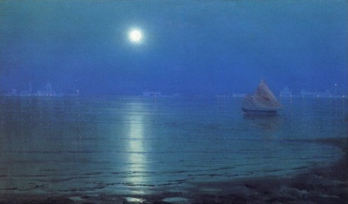 Thomas ALexander Harrison Venice in Moonlight