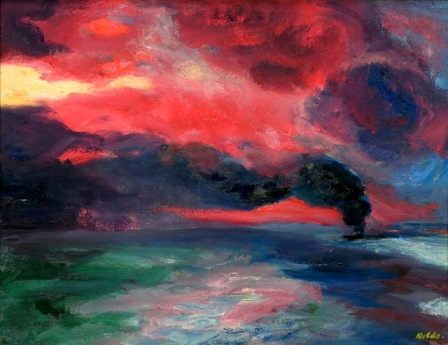 Emil Nolde Evening Sea at Autumn