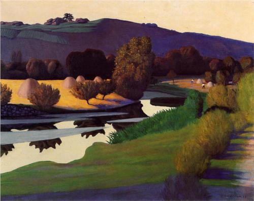 Felix Vallotton Evening on the Loire 1923 oil on canvas
