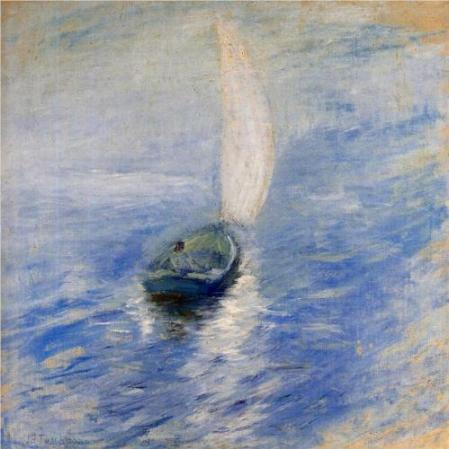John Henry Twachtman Sailing in the Mist c1895 oil on canvas