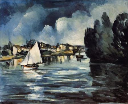 Maurice de Vlaminck The Seine at Chatou oil on canvas 1908