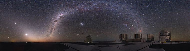 Night Sky at Cerro Paranal in the Chilean Atacama Desert, from ESO WC