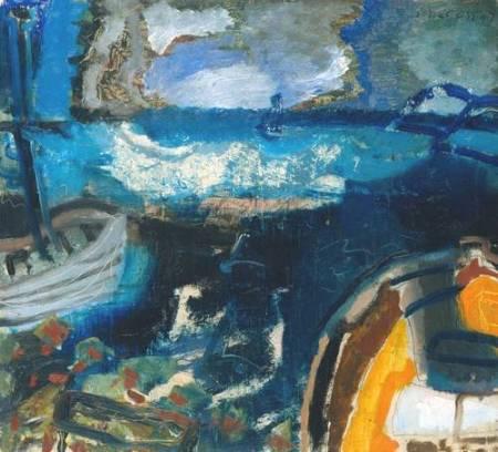 Boats at Night 1947 by Patrick Heron 1920-1999