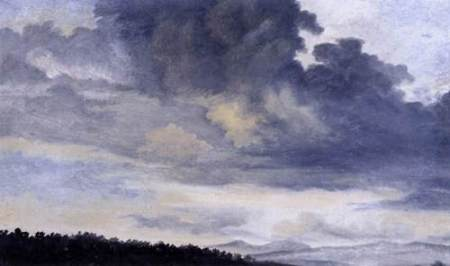 Pierre Henri Valenciennes Rome colon Study of Clouds 1780s