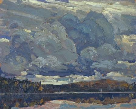 Tom Thomson Grey Sky 1914 oil on wood